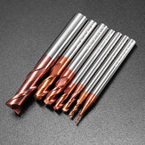 Drillpro 1-8mm 2 Flutes Tungsten Carbide End Mill Miller HRC55 AlTiN طلاء CNC أداة نهاية مطحنة