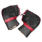 PU Leather Warm Covers Handlebar Muffs Snowmobile Waterproof Winter Hand Gloves