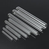5Pcs Transparent Lab Borosilicate Glass Test Tube in Diffrent Size for Laboratory