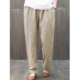 Dames-elastische taille-gestreepte harembroek met losse losse broek