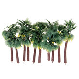 10 Pcs Mini Arbres Artificiels Feuille Jaune Cocotier Home Office Party Décorations