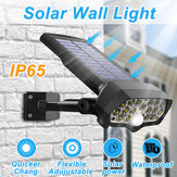 30W 16LED Solar Panel Street ضوء PIR Motion المستشعر360 ° Diming Outdoor Wall Lamp for Garden Road Pathway
