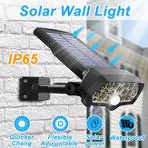 30W 16LED solare Lampione a pannello PIR Sensore di movimento a 360 ° con dimmerazione a parete esterna lampada per via stradale giardino