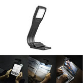LUSTREON USB Rechargeable Fold Dimmable 4 LED Eye-Care Reading Book Light Clip on for Kindle IPad