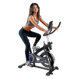 [EU Direct] KUOKEL YS-S05 Exercise Bike with Comfortable Seat Cushion Tablet Holder LCD Monitor Bottle Holder 13lb Silent Flywheel for Home Gym Fitness