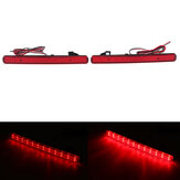 Pair LED Rear Bumper Brake Light Reflectors Red For Honda Acura TSX 2009-2014 Accord 2008-2015