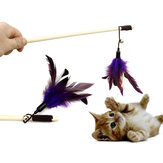 Yani HP-PT1 Pet Tease Chat Stick Pure Goose Feather Jouets en bois pour chat