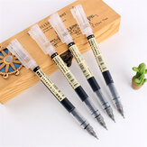 Dianshi 904 1Pcs Gel Pen Set 0.5mm Simple Large Capacity Quick Drying Pen Black/Blue Transparent Holder Netural Pen Set