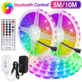 5M / 10M Bluetooth 3528 SMD RGB 600 LED Şerit Işık Şerit Bant w / 40Key IR Uzakdan Kumanda