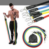 11pcs / set 10-30LBS Bandes de résistance Workout Exercise Fitness Yoga Loop Belt Elastic Stretch Band