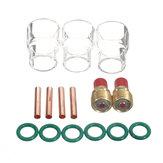 WP-9/20/25 Serisi 1 / 8inç için 15 Adet TIG Kaynağı Meşalesi Gaz Lens # 12 Kupası Kit