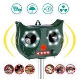 [Versão básica] Portable Solar Bateria repelente de pragas e repelente de animais Ultrasonic ao ar livre alimentado Rat Reseller Get All Animal Invaders Friendly