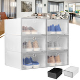 6PCS/SET Shoe Storage Box Dust-proof Dirt-proof Foldable Odor-free Drawer Container Washable Stackable Shoe Box