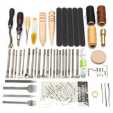 59Pcs Leather Craft Hand Tools Kit For Hand Stitching/Sewing Stamping Set