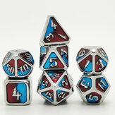 7 Pcs/Set Metal Dice Set Role Playing Dragons Table Game With Cloth Bag Bar Party Game Dice