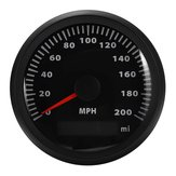 85mm 200MPH Speedometer Waterproof Gauge Digital Stainless Car Truck Black