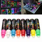 8pcs 10mm surligneur LED écritoire marqueur de néon liquide fluorescent stylo craie