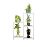 Multi-layer Wooden Plant Shelf Succulents Rack Optional Height for Home Office Flower Stand