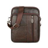 1.5L Men Genuine Leather Shoulder Bag Crossbody Messenger Handbag Phone Case Pouch Outdoor Travel