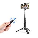 Ulanzi SK-02 draagbare 10M bluetooth-afstandsbediening Selfie Stick met Vlog-videostatief met verlengde microfooninterface