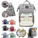 Waterproof Baby Nappy Diapers Bags Tote Mummy Travel USB Port Backpack