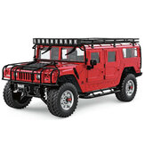 HG P415 Upgraded Light Sound 1/10 2.4G 16CH RC Car for Hummer Metal Chassis Vehicles Model w/o Battery Charger