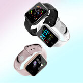 Bakeey I5 continuo Cuore tasso O2 Monitor quadrante WhatsApp ID chiamante promemoria Full Metal Body Smart Watch