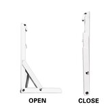 2PCS F Shape Triangle Folding Angle Bracket Bookshelf Storage Heavy Support Adjustable Wall Mounted Bench Table Shelf Bracket Furniture Hardware