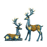 Nordic Style Resin Elk Figurines Furnishing Articles Originality Family Room Home Decorations
