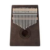 17 tasti Kalimba Finger Piano Mbira Tastiera in mogano Strumento musicale in legno