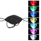 LED Colorful Luminoso EL Maschera Tessuto in fibra Cool Maschera Personalità Addebitabile Antipolvere Halloween Glow Party Puntelli KTV