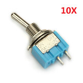 Wendao MTS-101 AAN / UIT AC 125V 6A 2 Pins Toggle Rocker Switch 10pcs