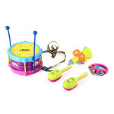 5PCS Boy & Girl Children Drum Musical Toy Kit Musical Instruments For Kids Gifts