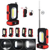 5in1XANESLF01LED+ COB Gerdirilebilir Manyetik Kuyruk ve Anten Seçici USB Şarj Edilebilir Çalışma Işığı EDC El Feneri