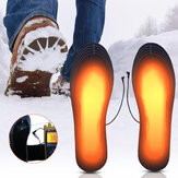 USB Charging Heated Shoe Insoles Washable Winter Foot Warmer Heated Insoles Cuttable Heater Pads