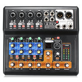 Portable 8 Channel Professional Live Studio Audio KTV Karaoke Mixer USB Mixing Console 48V