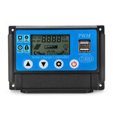 PWM 60A 12/24V Auto Adapt LCD Solar Charge Controller Battery Regulator Adjustable Parameter Dual USB Output