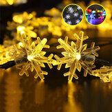Schneeflocke Lichterketten Schnee Fee Girlande Dekor Solarenergie LED für Weihnachtsbaum Neujahr Raumdekoration