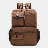 Men Canvas Large Capacity Multi-Pocket Anti-Theft Casual Travel Bag Computer Bag Backpacks