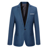 Hommes Casual Mode Slim Fit Veste Blazers Manteau 7 Couleurs
