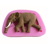 3D Elephant Shape Silicone Cake Fondant Mold Soap Mould Creative Animal Shape Baking Tools
