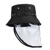 Transparent Adjustable Dust-proof Hat Anti Spitting Splash Proof Fisherman Cap