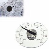 4.33 polegadas Termômetro termômetro de temperatura de janela redonda redonda transparente