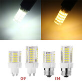 G9 E14 5W SMD 52 2835 LED bulbo del maíz cala no regulable CA 220V