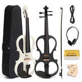 4/4 Elektrische viool met hoofdtelefoon Gig Bag Bow-kabel voor beginners