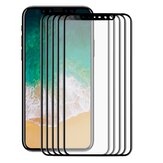 5 Packs Bakeey Silkscreen Automatic Adsorption Tempered Glass Screen Protector For iPhone XS/X
