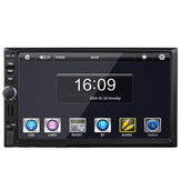 7 Inch Touchscreen Bluetooth Dual Spindle Universele auto MP5 speler met of zonder GPS