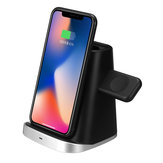 3 In 1 10W Wireless Charger Phone Holder Earphone Charger Watch Charger For iPhone Samsung Huawei Xiaomi