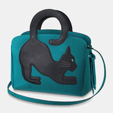 Dame Mode Stor kapacitet Håndtaske Crossbody Bag Cat Bag