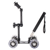 Rail Rolling Track Slider Skater Dolly Car Do aparatu cyfrowego DSLR z Selfie Stick Magic Arm